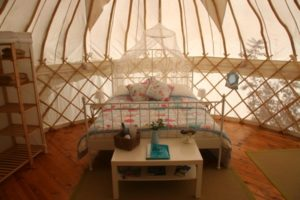 Cherry Blossom - Luxury Yurt next to the children's play area